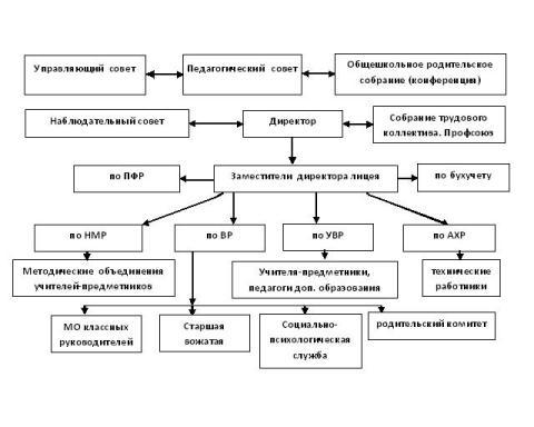 Схема управления лицея